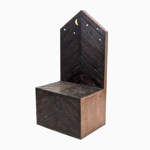 Wooden Throne Chair by Sandro Lorenzini, 1980s