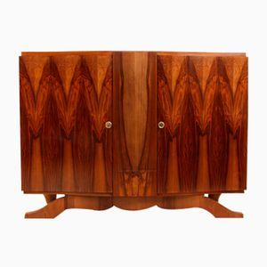 Französisches Art Deco Walnuss Sideboard