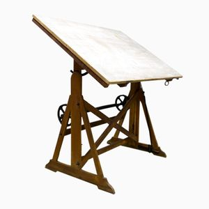 Vintage Industrial Drawing Table from Ahrend & Zoon