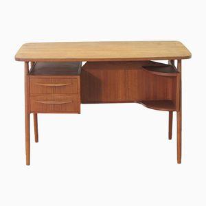 Dänischer Vintage Teak Schreibtisch von Gunnar Nielsen Tibergaard