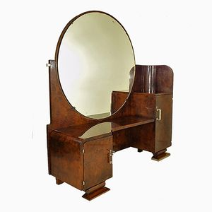 Coiffeuse Art Déco avec Miroir, 1930s