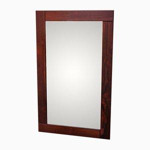 Spiegel mit Breitem Rahmen aus Palisander, 1960er