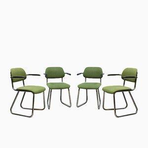 Chaises de Bureau 212 Vintage de Gispen, Set de 4
