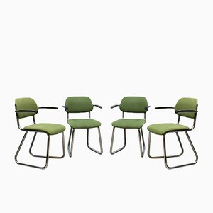 Vintage 212 Office Chairs from Gispen, Set of 4