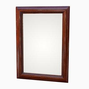 Small Pearl Edged Mahogany Mirror, 1920s