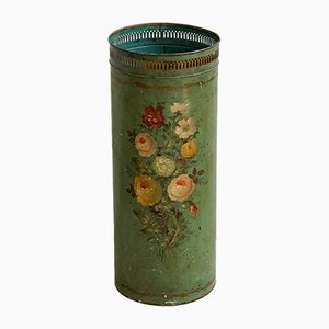 Floral Painted Umbrella Stand, 1900s