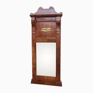 Antiker Spiegel aus Mahagoni & Blattgold