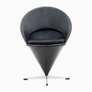 Leder Cone Chair von Verner Panton für Gebrüder Nehl, 1960er