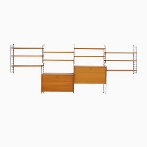 Modulares Vintage Wandregal von Katja & Nisse Strinning für String