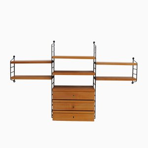 Vintage Swedish Shelving System in Cherry by Nisse Strinning for String