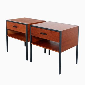 Tables de Chevet Carrella Mid-Century en Teck par A.R. Cordemeyer pour Auping, Set de 2