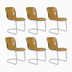 Italienische Stühle von Willy Rizzo für Cidue, 1970er, 6er Set