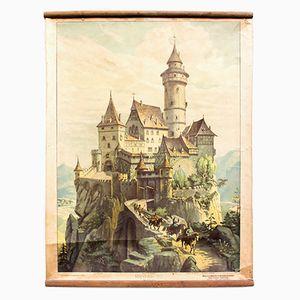 Knight's Castle Educational Chart by Adolf Lehmann, 1912