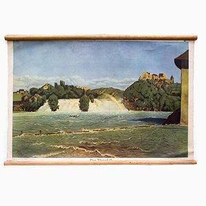 The Rhine Falls Educational Chart from Der praktische Schulmann, 1876