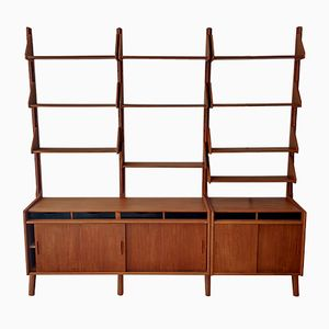 Teak Libra Wall Unit by Haraldsen & Co., 1950s