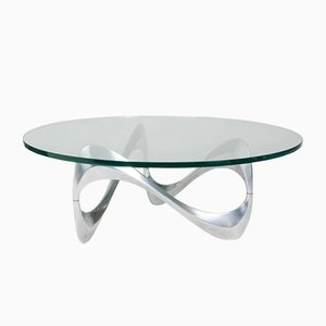 Swiss coffee table k1000 by ronald schmitt for team form for Table exterieur alu verre