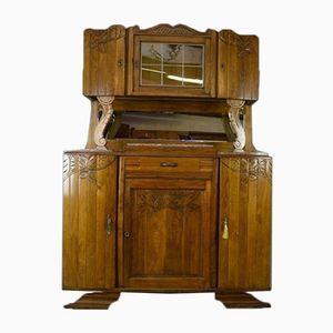 Französischer Vintage Art Deco Eichenholz Schrank