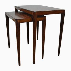 Rosewood Nesting Tables by Erik Risager for Haslev, 1950s