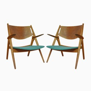 CH28 Chairs by Hans Wegner for Carl Hansen, 1950s, Set of 2