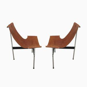 Vintage T-Stühle von William Katavolos und Ross Littell für Laverne International, 2er Set