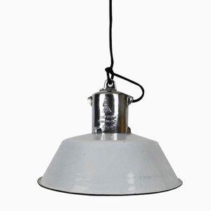Deutsche Weiße Fabriklampe von VEB EOW