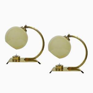 Art Deco Tischlampen, 1930er, 2er Set