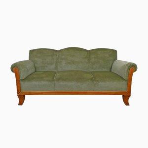 3-Sitzer Sofa aus Kirschholz von Joseph Kreuzburg, 1930er