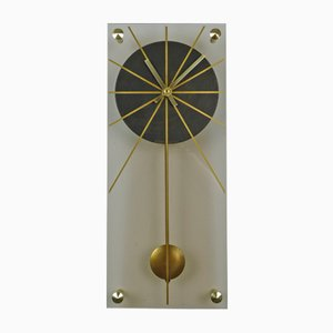 German Plexiglas Wall Clock, 1960s