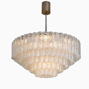 Large Five-Tier Pendant with Glass Tubes from Doria, 1960s