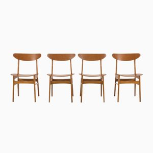 Mid-Century Dinning Chairs from Farstrup, Set of 4
