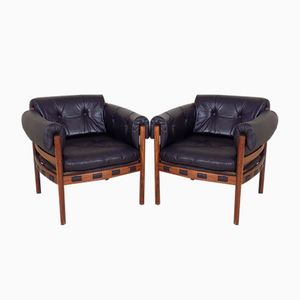 Rosewood Armchairs by Arne Norell for Coja, 1960s, Set of 2