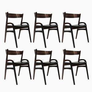 Mid-Century Scandinavian Rosewood Chairs, Set of 6