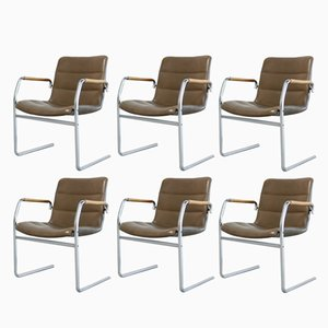 Vintage Cantilever Chairs by Jorgen Kastholm for Kusch + Co, Set of 6