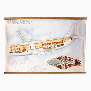 Flugzeug Wandplakat, 1952