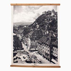 Litograph of Graz, 1929
