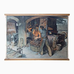 Educational Chart of a Blacksmith Shop, 1929
