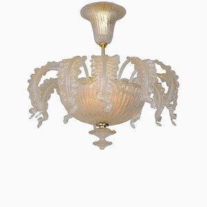 Lampadario Mid-Century in vetro di Murano di Barovier & Toso