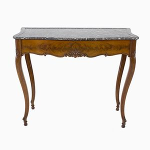 French Louis Philippe Side Table with Marble Top, 1860s