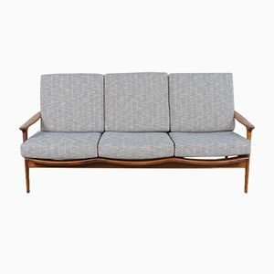 Afromosia New Yorker Three-Seater Sofa from Guy Rogers, 1960s