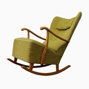 Green Swedish Rocking Chair, 1960s