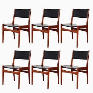 Vintage Teak Dining Chairs by Poul M. Volther for Frem Røjle, Set of 6