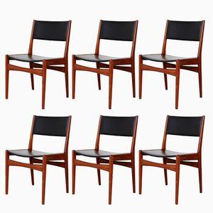 Vintage Teak Esszimmerstühle von Poul M. Volther für Frem Røjle, 6er Set