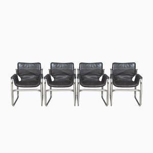 Fauteuils Sling Cantilever Post-modernes, Set de 4