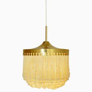 Brass & Silk Pendant by Hans-Agne Jakobsson, 1960s