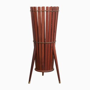Wooden Slatted Umbrella Stand, 1960s
