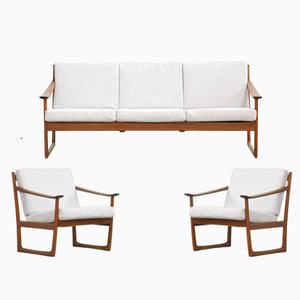 Danish FD130 Sofa and 2 Chairs by Peter Hvidt & Orla Mølgaard-nielsen for France & Søn