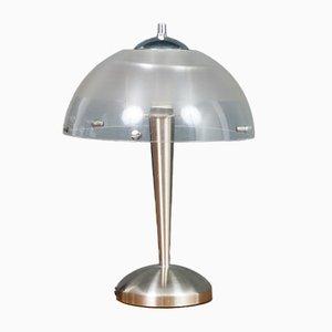 Meblo Tischlampe aus Gebürstetem Chrom von iGuzzini, 1970er