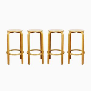 Vintage Bar Stools by Alvar Aalto, Set of 4