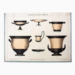 Wall Chart of Antique Pots, 1915