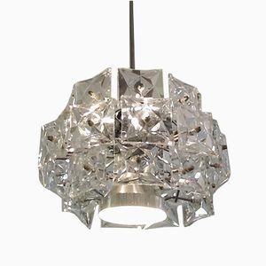 Three Tiered Prism Crystal Chandelier from Kinkeldey, 1960s